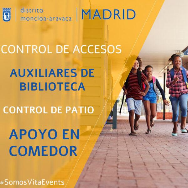 SERVICIOS AUXILIARES EN LOS CENTROS EDUCATIVOS DE MONCLOA-ARAVACA