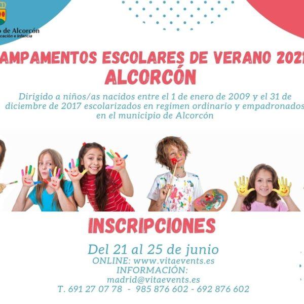 CAMPAMENTOS ESCOLARES DE VERANO ALCORCON 2021